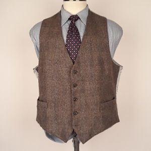 FREEMANS SPORTING CLUB Brown Tweed Mens Sz XL Vest